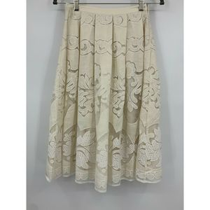 Champagne and strawberry Anthropologie small skirt